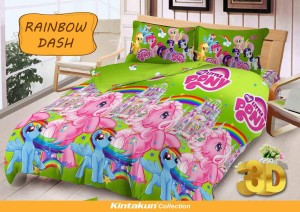 Sprei D'luxe Kintakun ukuran 120 x 200 – Rainbow Dash