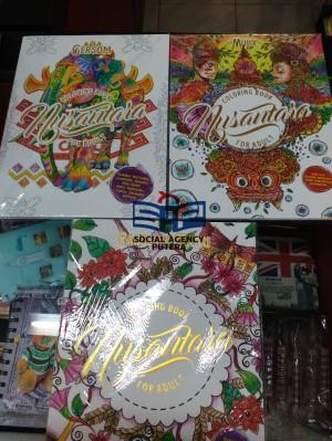 BUKU COLORING BOOK FOR ADULT NUSANTARA SULAWESISUMATRAACEH DLLtl
