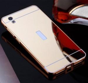 ... Bumper Mirror Case Vivo Y51 Aluminium Metal Slide Back Case Miro