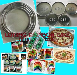 harga Loyang/ Cetakan Pizza/ Brownies/ Rainbow Cake Bundar Bulat D24cm T2c Tokopedia.com