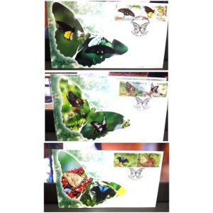 Satu Set (3 SHP) Perangko Indonesia Flora Fauna Thn 2016