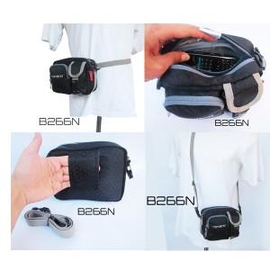 tas selempang hitam double handphone b266N(tas handphone pria)