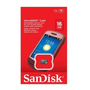 Sandisk MicroSDHC [Kartu Memori] 16 GB Class 4