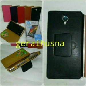 Hp Bali Slate 6 Voicetab 2 leather case sarung kulit sintetis