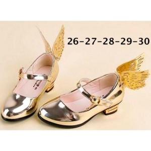 Sepatu Anak Perempuan Bersayap Malaikat (Shoes Angel Gold/Pink)