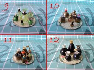 Miniature Perfume Part 5 / Set Parfum Tray Decopage 3,5 cm 9-12