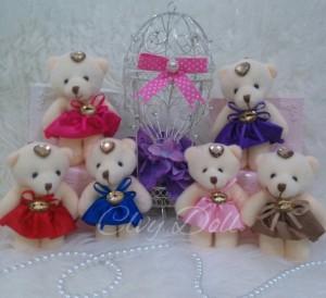 harga Boneka Gantungan Kunci/Tas Teddy Bear Dress Kristal Lucu, Imut, Murah Tokopedia.com