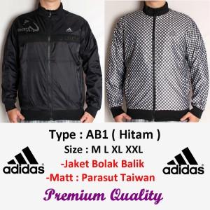 harga Jaket Adidas Parasut Bolak Balik Grade Original ( AB1 Hitam ) Tokopedia.com