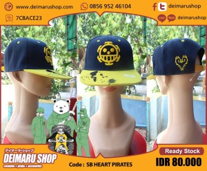 harga [SB HEART PIRATES] TOPI SNAPBACK ANIME MANGA ONE PIECE TRAFALGAR LAW Tokopedia.com