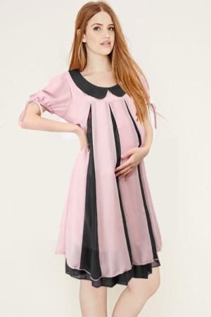 Baju Hamil Maternity Ruffle Tone Dress
