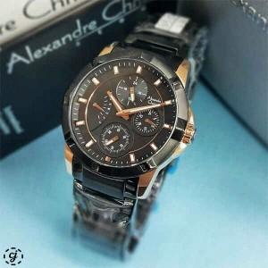 harga alexandre christie AC 2503 BLACK ROSEGOLD jam tangan alexander christy Tokopedia.com