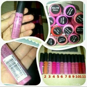 Lipstik/lipgloss lipcream nyx