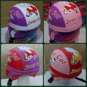 helm retro anak sweet cat plus kaca jkt