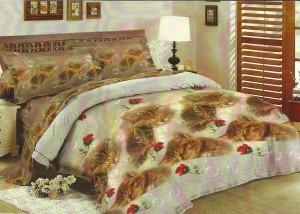 SPREI 3D LADY ROSE 180 KINGS MURAH Motif SLEEPING CAT