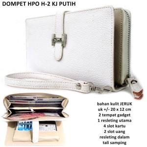 dompet wanita kulit jeruk heermes hpo 2 hp putih