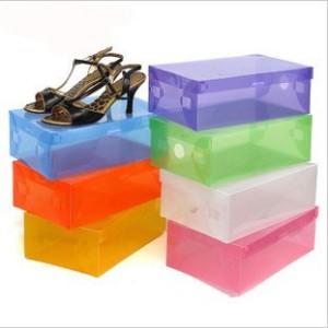 box atau kotak sepatu plastik transparan warna warni - HHM001