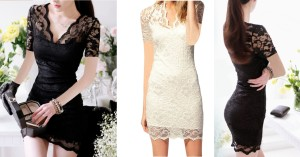 Short Dress Import gaun pesta blouse brokat baju atasan korea terbaru