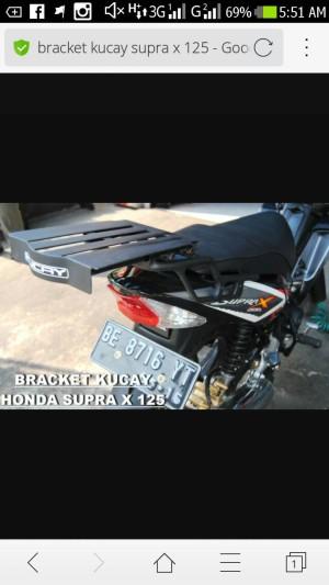 bracket kucay supra x 125 model lama karburator