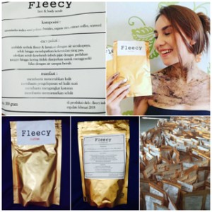 FLEECY Face & Body Scrub 200 gr ( lulur organic )