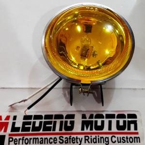 harga Halogen Bulat Foglamp Lampu Tembak Sorot Cahaya Kuning Tokopedia.com