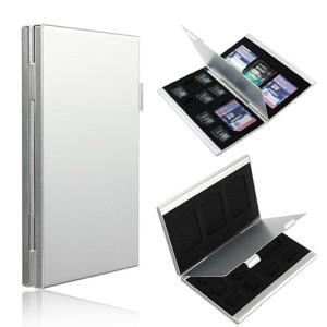 Metal 12 In 1 Aluminum 8 Micro SD + 4 SD Card Storage Box