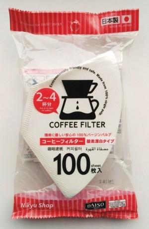 harga Coffee Filter Oxygen-Bleached/Saringan Kopi 2~4 cups 100pcs Tokopedia.com