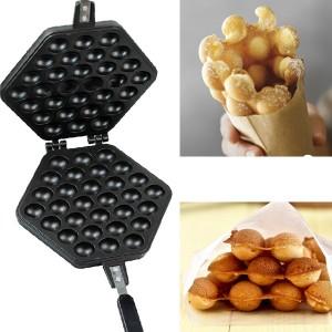 EGG WAFFLE PAN (Cetakan Waffle Berbentuk Telur)-3 Pcs