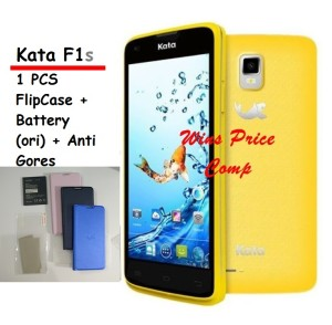 Android Murah - KATA F1S+ FLIPCASE + SCREEN GUARD + BATTERY ORIGINAL !
