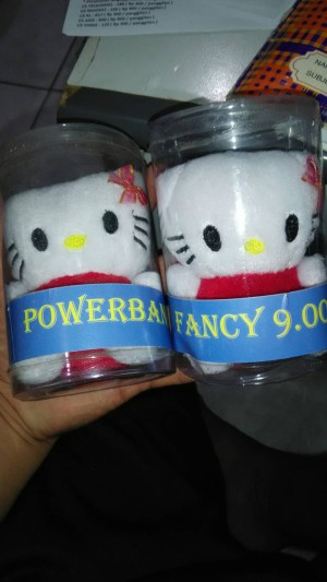 POWERBANK BONEKA .. HELLO KITTY DAN KEROPI