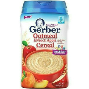Gerber Oatmeal & Peach Apple Cereal - Nestle / Bubur Sereal Bayi