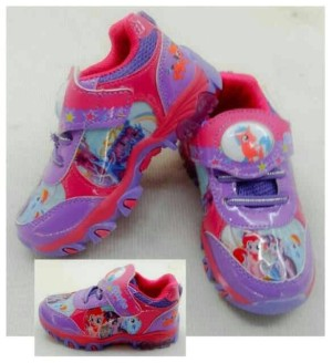 Sepatu Lampu Anak Karakter (Frozen, Cars, Spiderman, Little Pony)