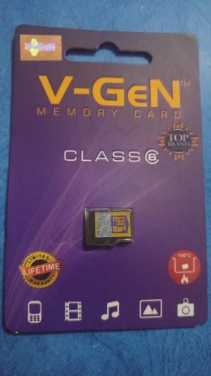 MICROSD MEMORY CARD KARTU MEMORI V-GEN 16 GB CLASS 6