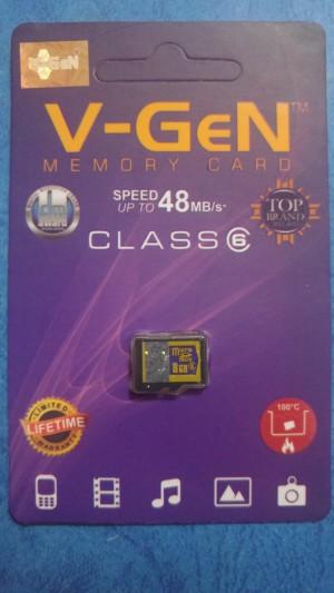 MICROSD MEMORY CARD KARTU MEMORI V-GEN 8 GB CLASS 6