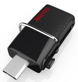 SanDisk Dual USB Drive 3.0 16 GB / Flashdisk OTG 16 GB Android PC