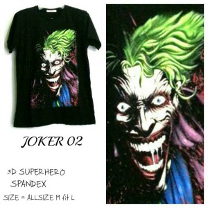 harga T Shirt Kaos 3D Superhero Glow in The Dark | JOKER 02 Tokopedia.com