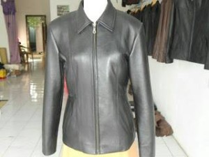 jaket kulit cewe asli kulit domba