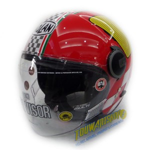 Helm Nolan N21 Visor Asso Corsa red Caferacer & Scooterist