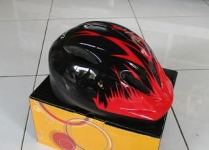 Helm Sepeda Anak MXL - Warna Merah Hitam