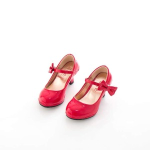 harga Sepatu Pesta Anak Perempuan Merah Hak Pita Import Branded Korea Tokopedia.com