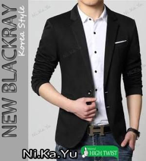 harga Blazer NEW BLACKRAY - Jas Semi Formal Pria Slimfit Korea Keren Tokopedia.com