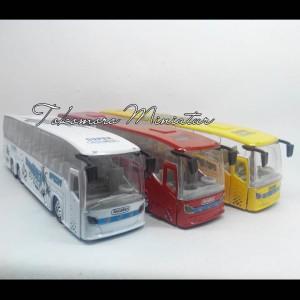 Miniatur Bus diecast bis warna kuning
