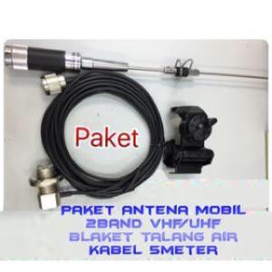 Murah !!! RADIO KOMUNIKASI Paket Antena Mobil DUAL band VHF & UHF