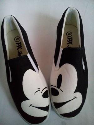 harga Sepatu Lukis Mickey Mouse Face Tokopedia.com