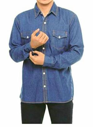 Kemeja jeans pria dewasa