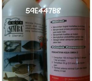Aqua simba D (darat) mikroba probiotik