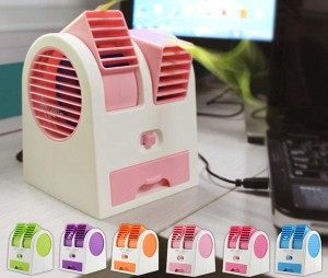 AC Duduk Aroma Terapi Mini Portable Fragrance Handy Cooler Kipas Fan