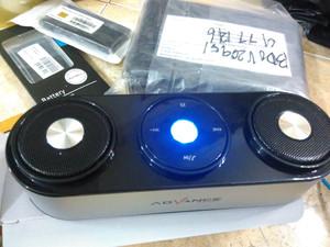 advance es040 - Bluetooth portable speaker stereo model meja table DJ