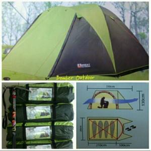 Kapasitas 6 orang. Source · Tenda dome great outdoor GO Java 4/5 person