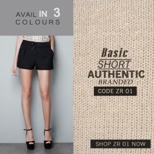 harga ZARA BASIC SHORT | Celana Pendek Wanita Hot Pants Branded Original Tokopedia.com