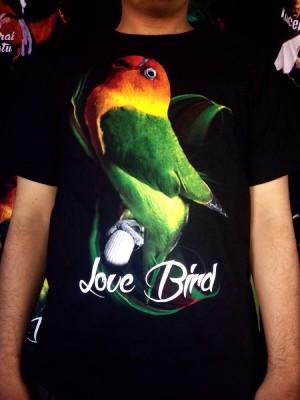 Kaos Baju Burung Kicau Mania Lovebird